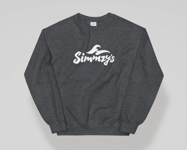 Simmzy's Unisex Crewneck Sweatshirt in Heather Grey