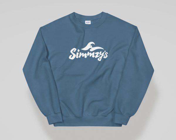 Simmzy's Unisex Crewneck Sweatshirt in Indigo Blue