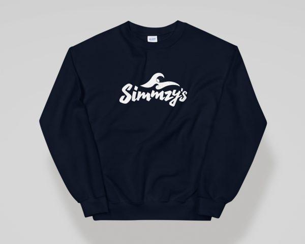 Simmzy's Unisex Crewneck Sweatshirt in Navy Blue