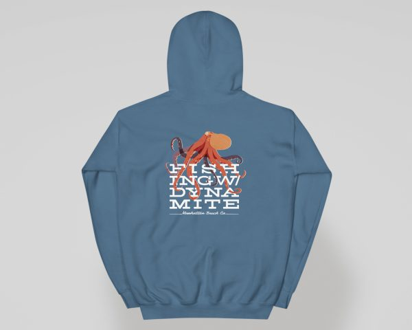 Fishing With Dynamite Manhattan Beach Octopus Hoodie