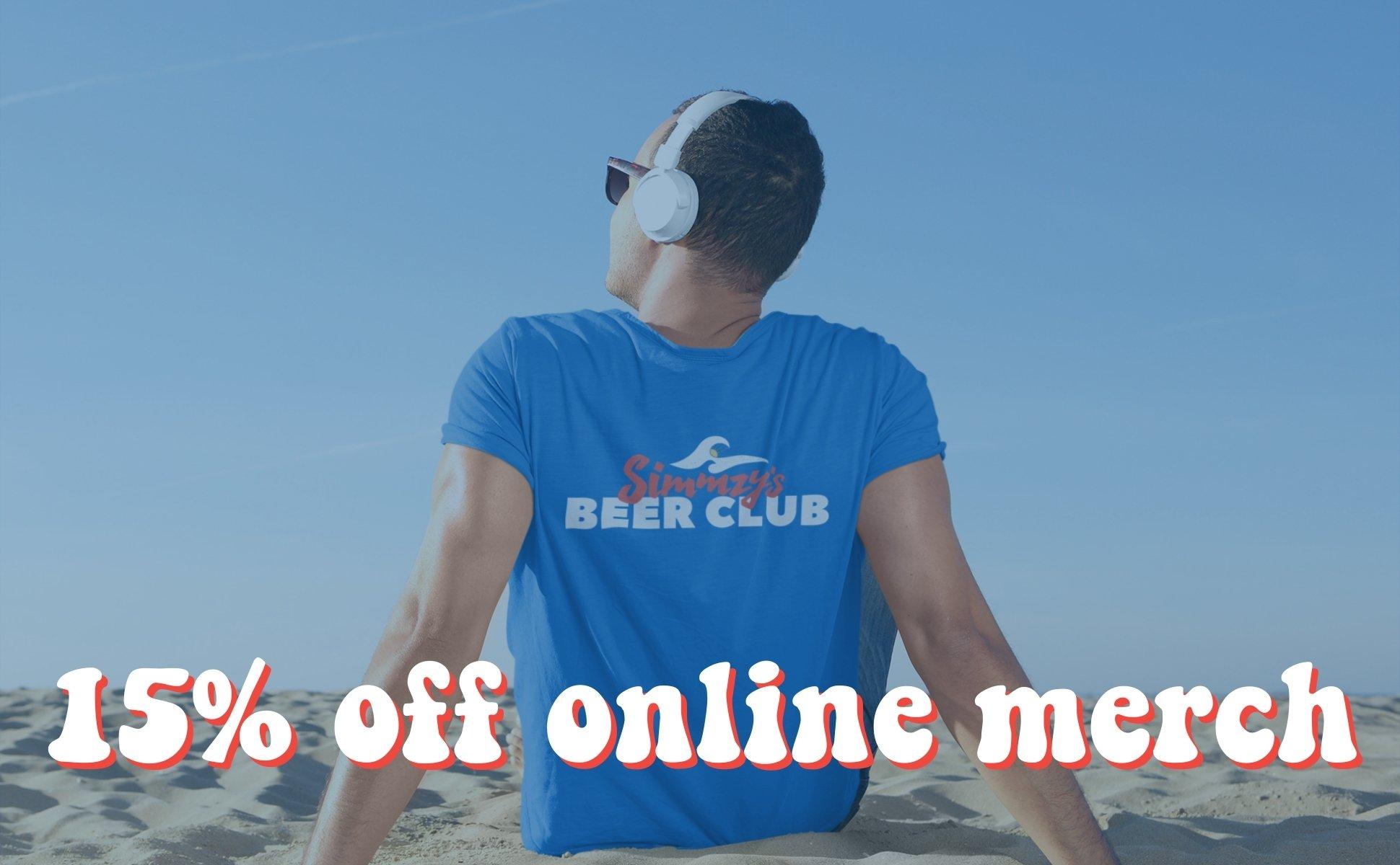 15% off Online Merch on EatSimms.com
